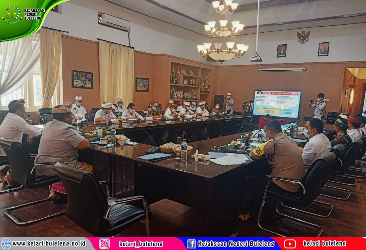 Rapat koordinasi terkait pelaksanaan evaluasi kegiatan percepatan penanganan Covid-19 di Kabupaten Buleleng